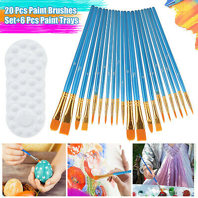 12Pcs Artist Paint Brushes Set Tube&Hair For Watercolor Acrylic Gouache Painting