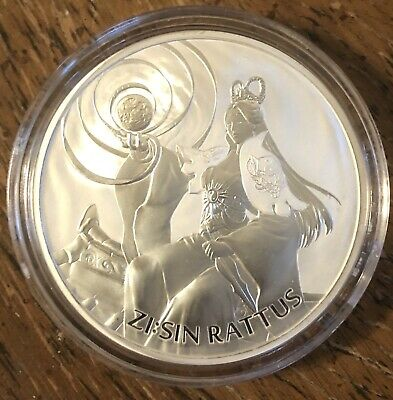 2020 South Korea ZI:SIN Series Rattus 1 oz Silver IN HAND! Very Limited +Capsule