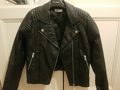 H&M Girls Biker Jacket Age 14 Vgc