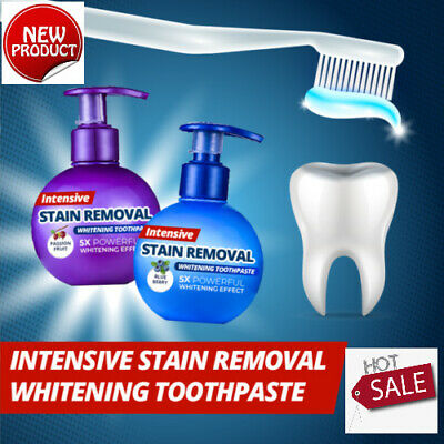 Natural Intensive Stain Remover Whitening Toothpaste Fight Bleeding Fresh AU
