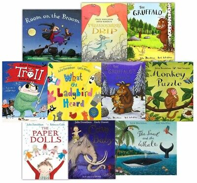The Julia Donaldson Story Collection 10 Book Pack Paperback + Carry Tote Bag New