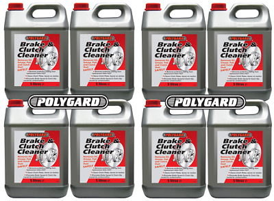 8 x POLYGARD Brake Parts Clutch Cleaner Professional  5 Litre 80L