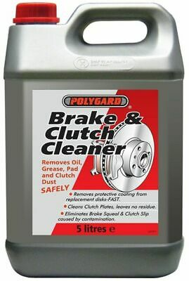 10 x POLYGARD Brake Parts Clutch Cleaner Professional 5 Litre 50L FREE NEXT DAY