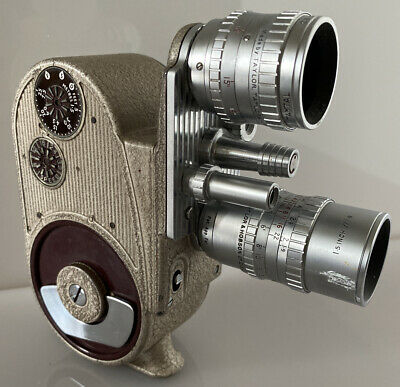 Stunning Vintage Bell & Howell 605 Double Run Eight Double Lens 8mm Cine Camera