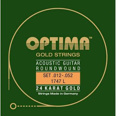 Optima Gold Plated Acoustic Guitar Strings 12-52 Light 1747L