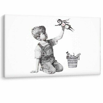 Banksy Game Changer Framed Canvas NHS Nurse Super Hero Wall Art Picture Print A1