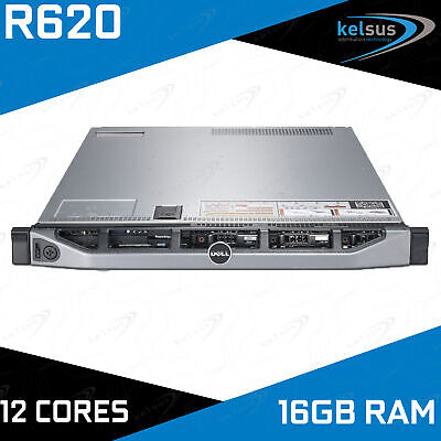 Dell PowerEdge R620 2x Xeon E5-2640 3.00GHz 12-CORE 16GB DDR3 H710