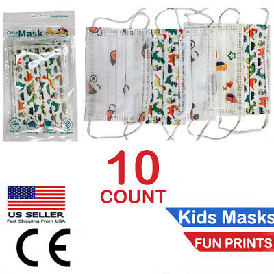 10 PACK Children FaceMask Medical Disposable 3-Ply Mouth Cover AUTHORIZED SELLER