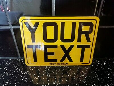 8x6 Text Motorcycle Kids Plate Novelty Bike Plate Not Number Plate