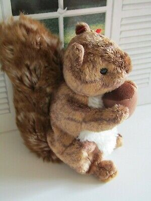 TY Beanies Nutty the Squirrel - Mint Condition with Tags Retired 2002