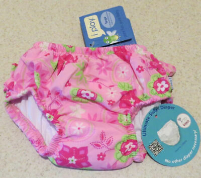 I Play Infant Toddler Girls' Floral Swim Diaper - Pink S