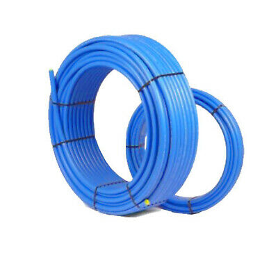 Blue Pipe 25mm O/D MDPE Plastic Compression for WRAS Mains Water Alkathene