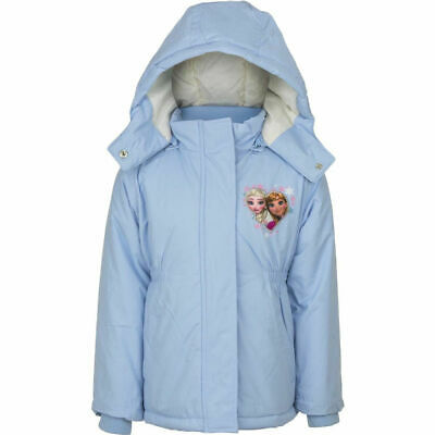 Girls Disney Frozen Elsa Anna Puffa Winter Jacket