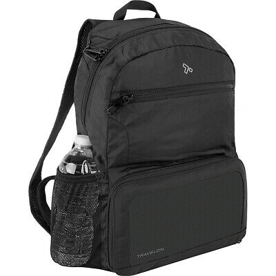 Travelon Anti-Theft Active Packable Backpack - Black Packable Bag NEW