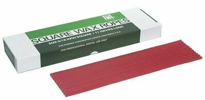 "COLTENE-WHALEDENT HYGENIC DENTAL UTILITY SQUARE WAX ROPES IN RED 44/BX 11""x3/16"""