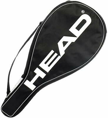 Head Single Racket Cover (One Tennis Racquet Padded Carry Bag Adjust Strap Black