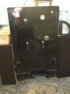 Antique safe by Cary with safe inside and double doors