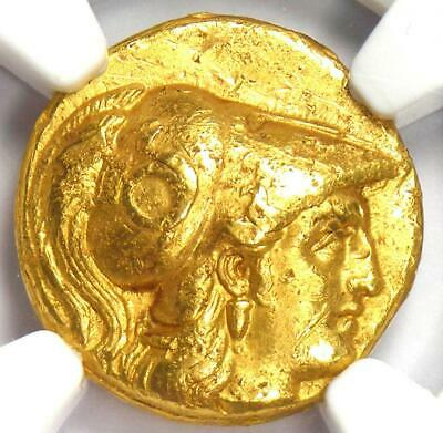 Alexander the Great III AV Gold Stater Coin 336 BC - Certified NGC XF Condition