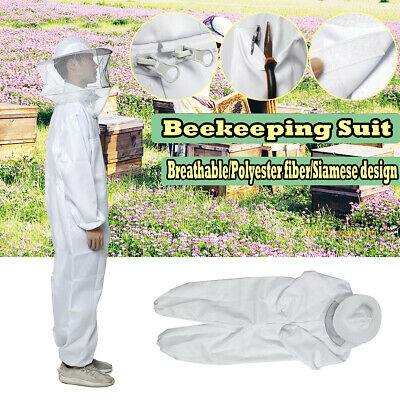 Professional Protect Full Body Beekeeping Bee Keeping Suit w/ Veil Hood Coverall