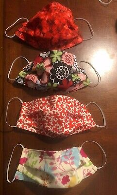 1 Fabric Face Mask - 3 Cotton Layers - Elastic - Flexible Nose - Mother's Day