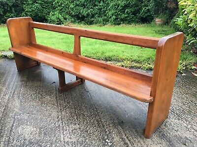 Original Solid Pine Church Pew / Benches With Rear Footrests