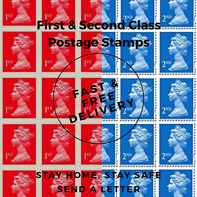 BRAND NEW 1st Class & 2nd Class Postage Stamps Genuine Royal Mail  FREE DELIVERY