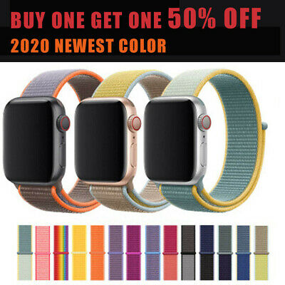 For Apple Watch Series 5/4/3/2 Nylon Sport Loop Band iWatch Strap 38/40/42/44mm