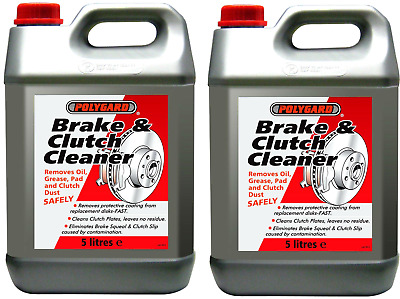 2 x 5L Polygard Brake Parts Clutch Cleaner Professional 10 Litre FREE NEXT DAY