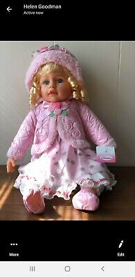 "20"" Lifelike Size Large Happy Face Soft Bodied Baby Doll Toy lot 2"