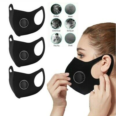 Face Mask PM 2.5 Protective Covering Breathable Washable Reusable Adult Unisex