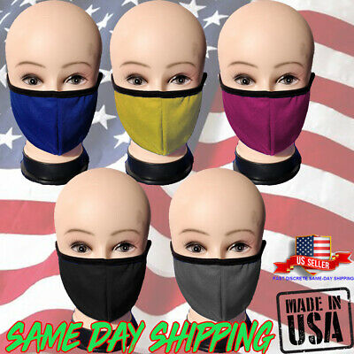 Face Nose Mask Unisex Washable Reusable Soft Double Layer Cotton Filter Packet