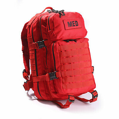NEW Elite First Aid Tactical Medical EMS Trauma MOLLE Backpack Bag MEDIC RED