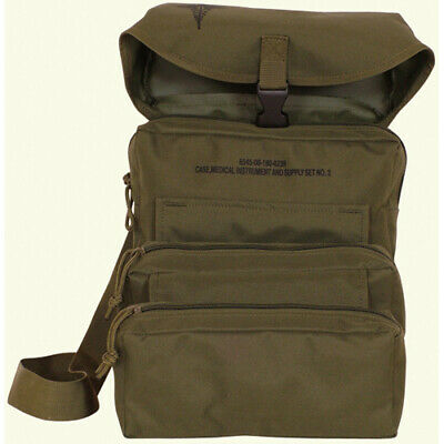 NEW Fox Tactical M-3 Trifold IFAK EMT CLS Medical MOLLE Field Bag OD OLIVE GREEN