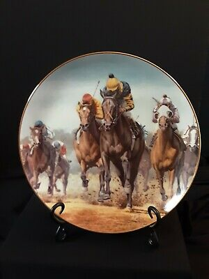 Fred Stone Horse Collector's Plate Kentucky Derby Seattle SlewOriginal Box COA