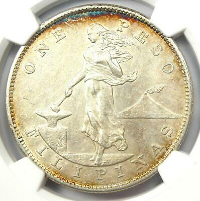 1903 Philippines Peso 1P (1903-P) - Certified NGC AU Details - Rare Coin!