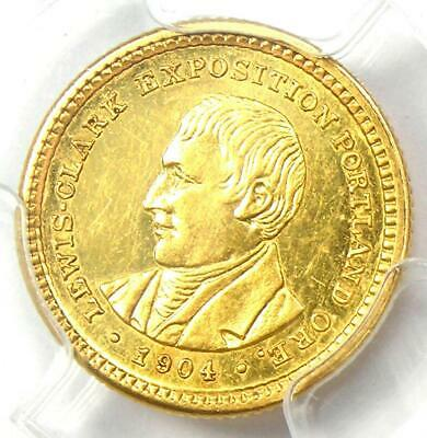1904 Lewis & Clark Gold Dollar G$1 Coin - Certified PCGS AU58 - $850 Value!