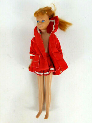 Vintage 1963 Skipper Doll Titian Red Hair Straight Leg Original Outfit Barbie