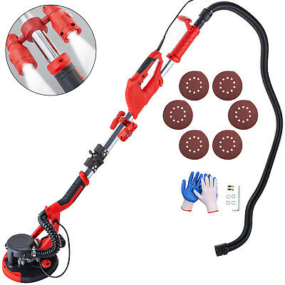 Drywall Sander 750W Folding Handle Variable Speed Vacuum System w/ LED Light