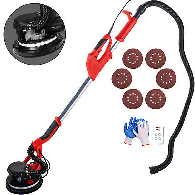 Drywall Sander 750W 225mm Extendable Handle 5 Variable Speed w/ LED Strip Light