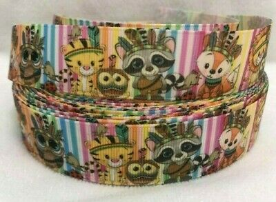 """Cute Animals Grosgrain Ribbon 1"""" wide sold by 2m -Craft"""