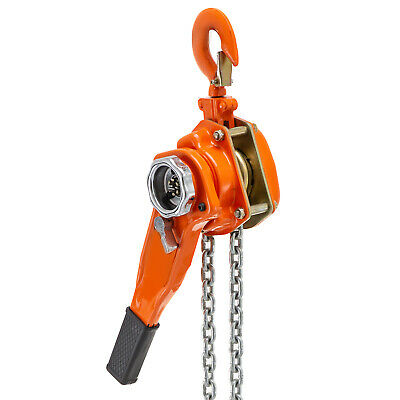 3/4 Ton 5FT Lever Block Chain Hoist Ratcheting Pulley Auto Shops
