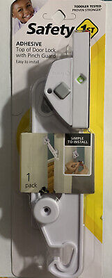 Safety 1st HS311 Top of the Door Lock w/Pinch Guard New Sealed Ships Quickly New