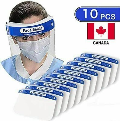 Anti droplets Face Shield Cover, Reusable, Transparent, Anti-Fog (10 pack)