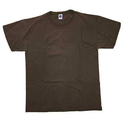 VTG 90s RUSSELL Athletic T-shirt Mens LARGE Brown 100% Cotton Made In The USA