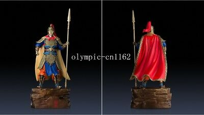 27'' superfine brass colored drawing carvings Three Kingdoms Warrior Ma Chao