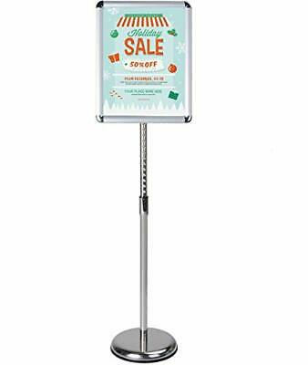 LCCMarket Heavy Duty Pedestal Floor Signs Adjustable Poster Sign Stand Snap-O...