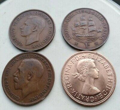Penny Pennies 4 coins in Total Britain South Africa