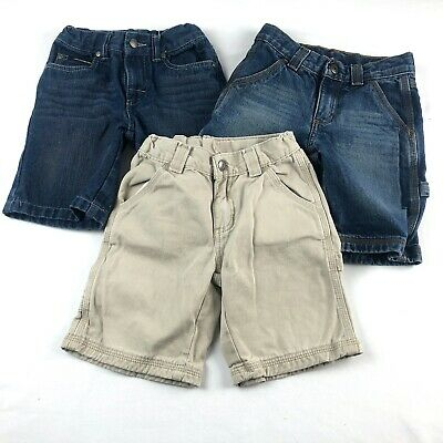 Lot of Boys Summer Jean Khaki Shorts Calvin Klein Sonoma Adjustable Waists Sz 5