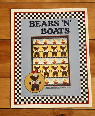 Bears and Boats Teddy Bear Quilt Vintage Quilt Pattern