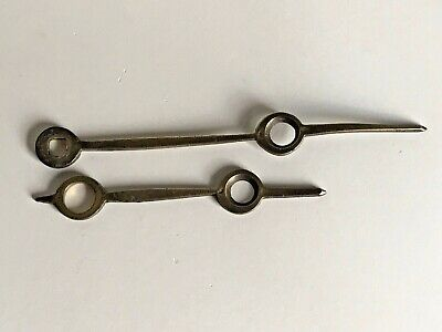 Antique Vintage Brass Clock Hour / Minute Hands - Clock Makers Tools